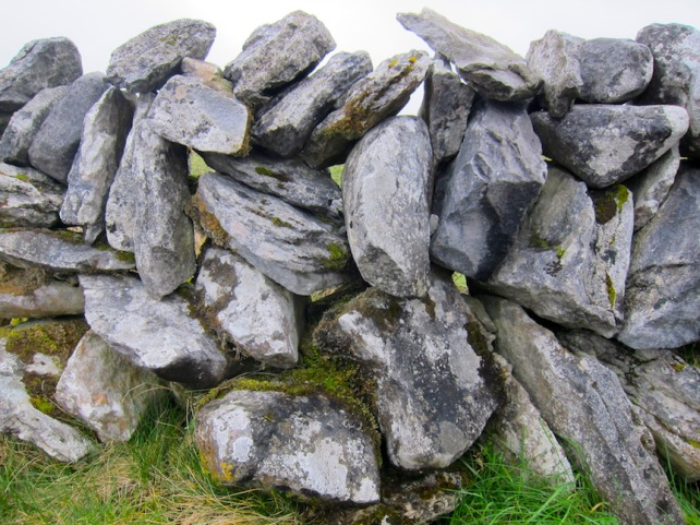 A stone fence in the Burren